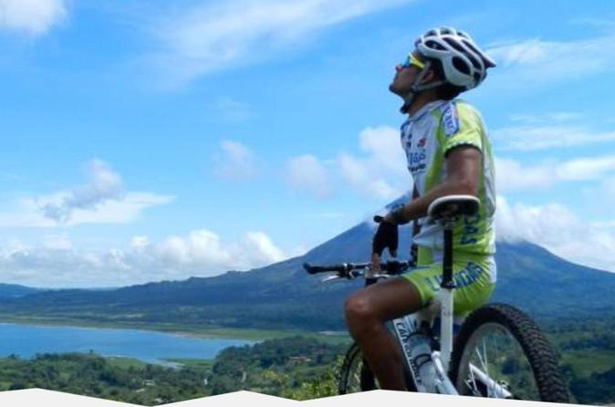 Arenal Volcano Combo 5 Biking, Lake & Baldi Hot Springs Private Tour