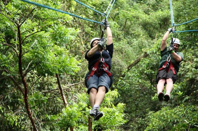Puerto Vallarta Adventure Tour: Speedboat, Zipline and Waterfall Rappel