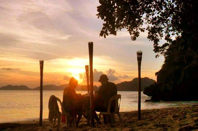Private Romantic Sunset at El Nido Including Boat Ride""