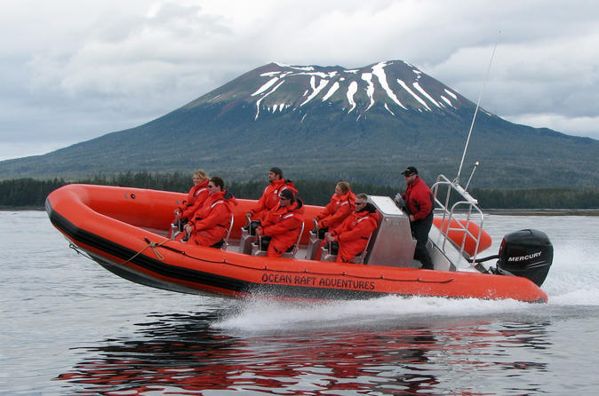 Ride an ocean raft along a volcanic coastline to view wildlife and in sitka 282963