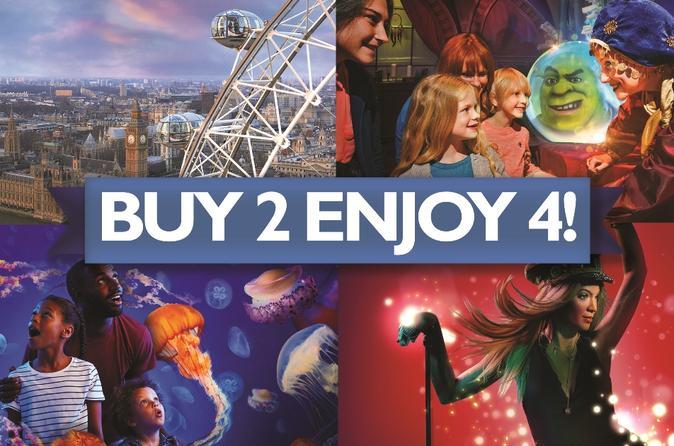 Bilhete para principais atrações de Londres, entre elas Madame Tussauds, Sea Life Aquarium, London Eye e Shreks Adventure Londres