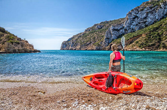 Guided kayak tour of playa de la granadella in x bia 280577