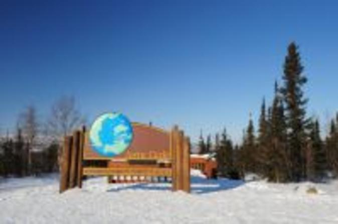 Winter Arctic Circle Flight and Driving Tour Experience