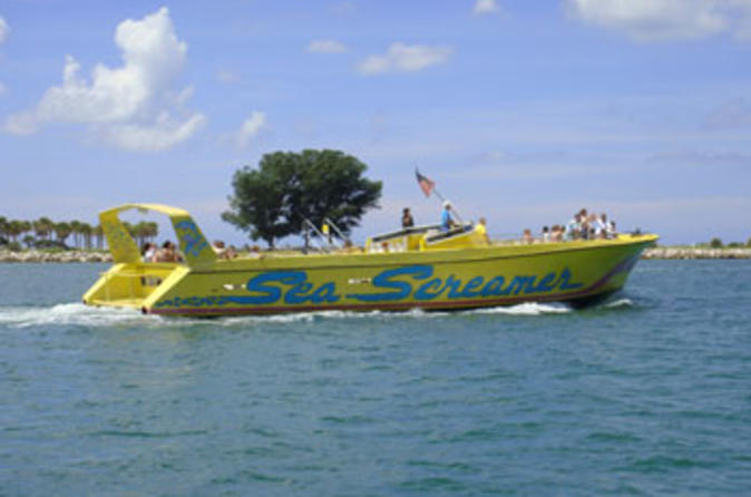 Viagem de um dia pela praia em Clearwater partindo de Orlando com passeio de barco Sea Screamer