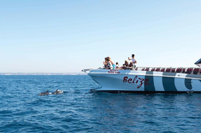 Observação de golfinhos e cruzeiro de barco para cavernas saindo de Albufeira