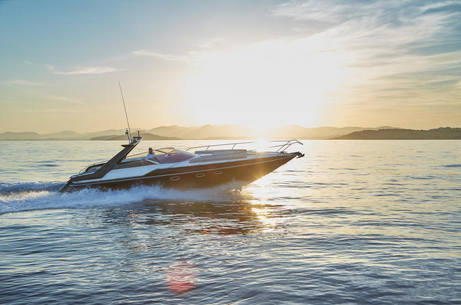 Ibiza private speedboat with personal skipper and drinks in ibiza 353601