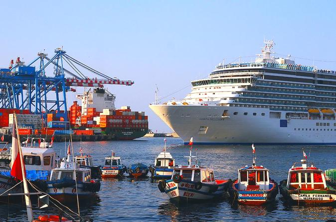 Coast Trip to Valparaiso and Wine tour at Casablanca Valley with drop off Port for your Cruise