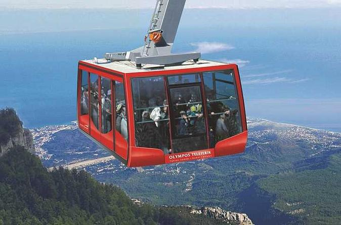 Panoramic Views at Mount Olympos by Cable Car