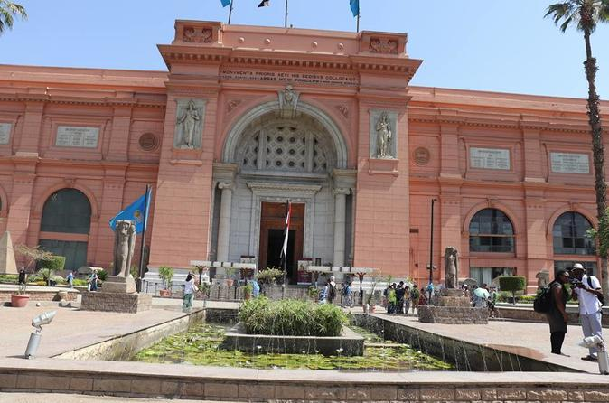 Giza pyramids Egyptian museum with private car