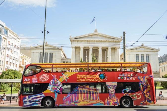 Excursão turística pela cidade de Atenas em ônibus panorâmico
