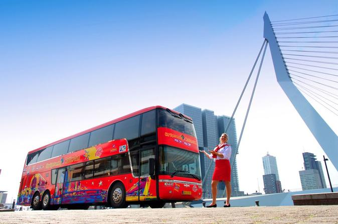 Hop-On Hop-Off Rotterdam City Sightseeing Tour Including Bike Rental