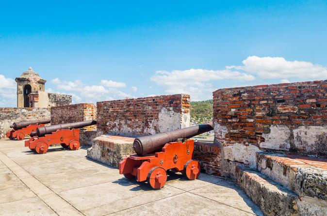 Excursão de meio dia em Cartagena em veículos com ar condicionado