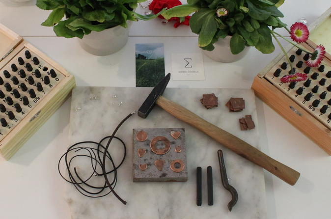 Leather Jewelry-Making Workshop in Florence