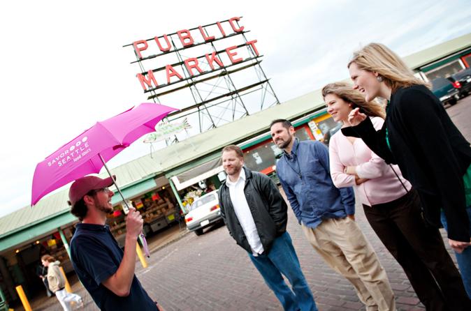 Excursão gastronômica e caminhada cultural pelo Mercado Pike