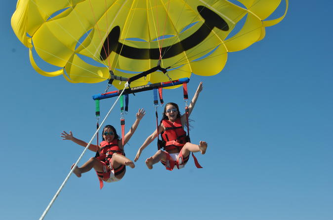 Super deluxe shell island parasail adventure in panama city beach 310246