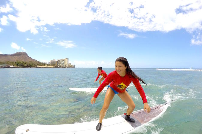 Waikiki Semi Private Surf Lessons with a Instructor