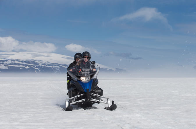 Langjokull Ice Cave and Glacier Snowmobile Day Trip