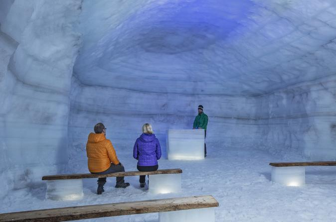 Reykjavik Langjokull Ice Cave, Lava Falls, and Hot Springs Day Trip