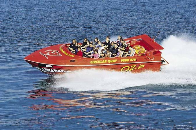 Best Sydney Shore Excursion: Sydney Harbour Jet Boat Thrill Ride: 30 Minutes