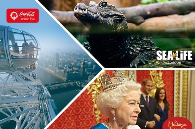 Billet combiné : London Eye - SEA LIFE de Londres - Madame Tussauds de Londres