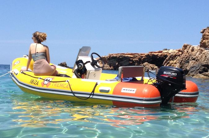 Full day boat rental in ibiza no license required in ibiza 291879