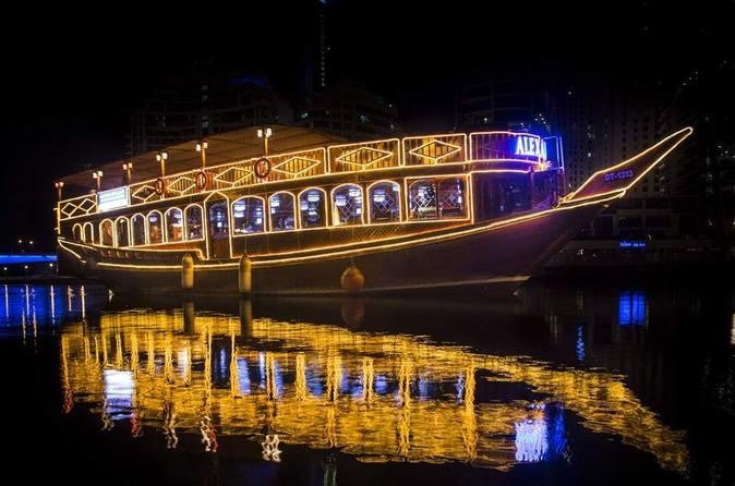 Traditional Dhow Cruise Marina Sightseeing Tour With Buffet Dinner - Dubai