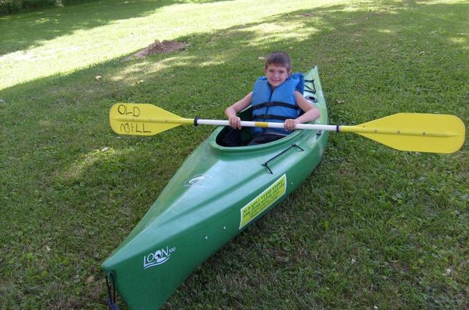 Single person kayak day trip on the blue river in indiana in fredericksburg 293392