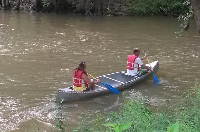 Two person 2 day trip with canoe along the blue river in indiana in fredericksburg 302351