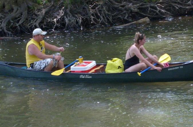 Two person single day trip with canoe along the blue river in indiana in louisville 293379