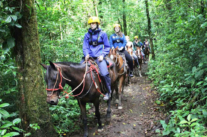 Horseback riding at 100 aventura park in monteverde 404151