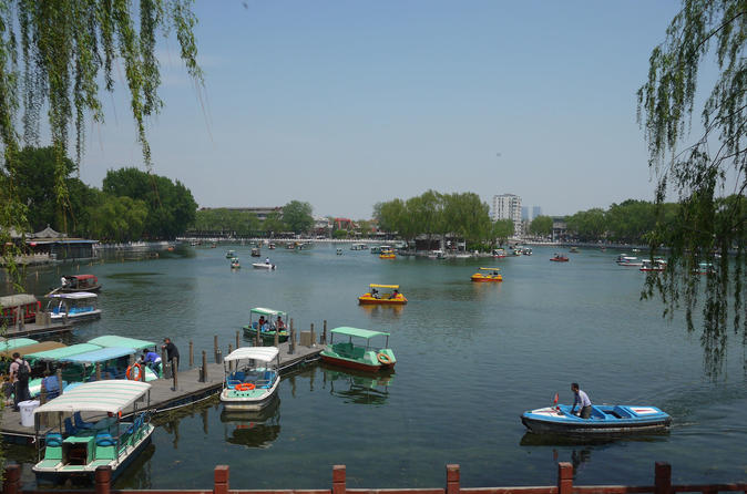 4 hours Beijing tour to Jingshan Park and boating experience at Beihai park