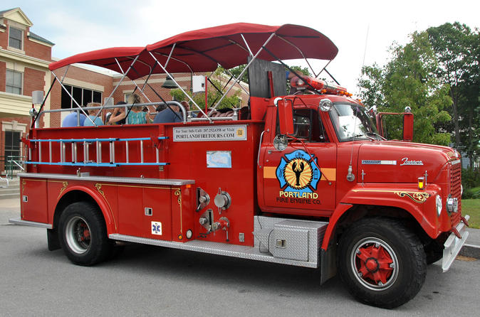 Private Narrated Sightseeing Tour of Portland Maine Aboard a Vintage Fire Engine