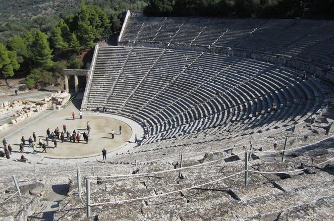 Excursão de três dias à Grécia clássica: Epidauro, Micenas, Nafplion, Olímpia e Delfos