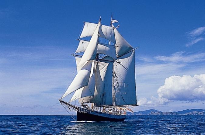 Bay of Islands Tall Ship Sailing on 'R. Tucker Thompson' Including BBQ Lunch