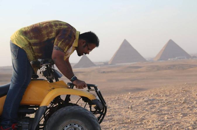 Cairo Desert Safari By Quad Bike around Giza Pyramids safari during the sunset