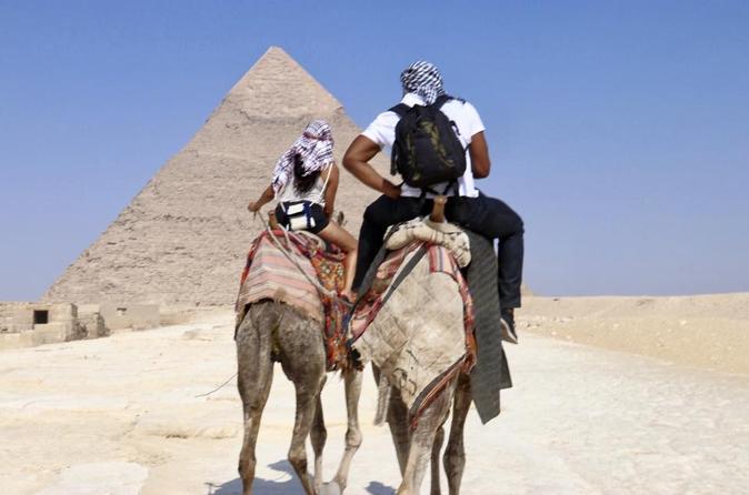 camel ride at Giza pyramids excursion