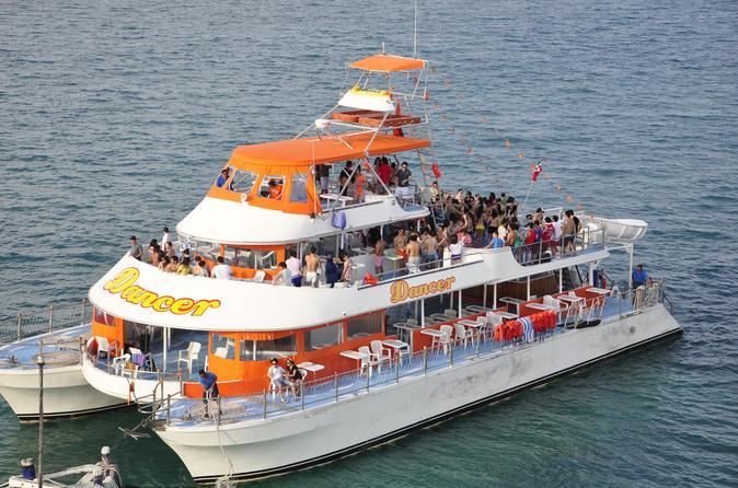 Cruzeiro de catamarã com excursão turística, mergulho com snorkel e dança saindo de Cancun