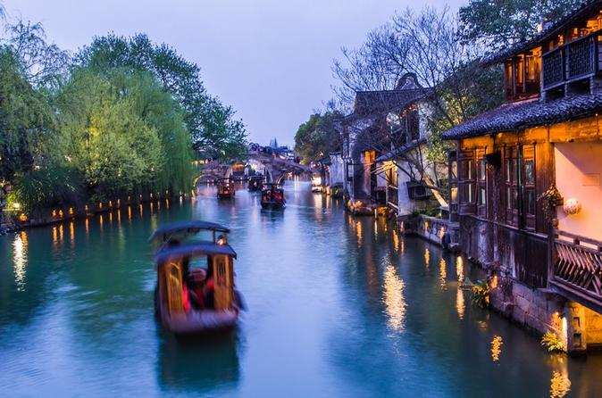 All-inclusive Zhujiajiao Water Town and Shanghai City Highlights Private Day Tour
