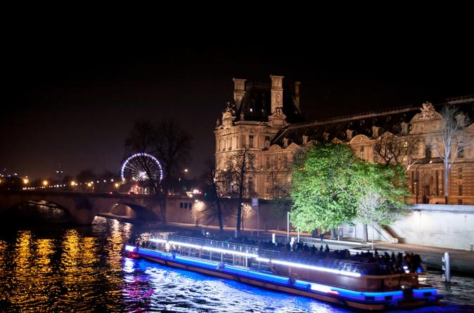 Private Tour: Romantic Seine River Cruise Dinner and Illuminations Tour