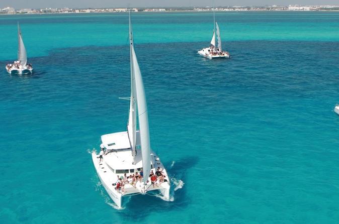 Catamaran day cruise to isla mujeres in playa del carmen 314461
