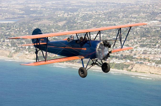 Open cockpit biplane sightseeing ride in san diego in san diego 120157