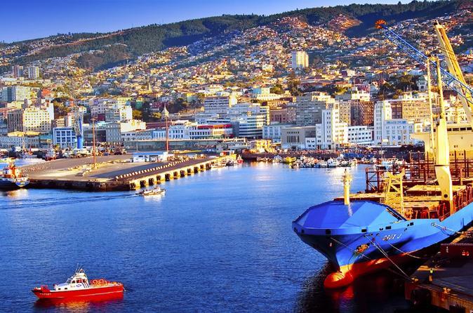Excursão de dia inteiro para grupos pequenos - Hotel de Viña del Mar - Valparaíso - Casablanca - Praia de Reñaca