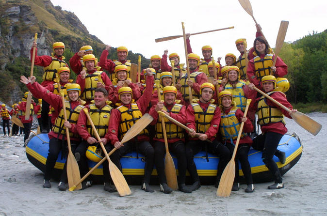 Queenstown triple challenge jet boat ride helicopter and white water in queenstown 141265