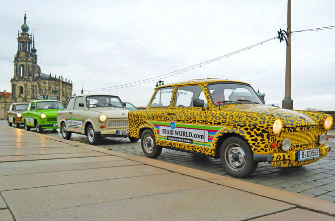 Dresden Live-Guided Self-Drive Trabi Safari City Tour