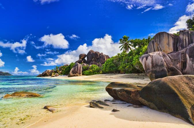 Full-Day Praslin and La Digue by Boat and Bus from Mahe