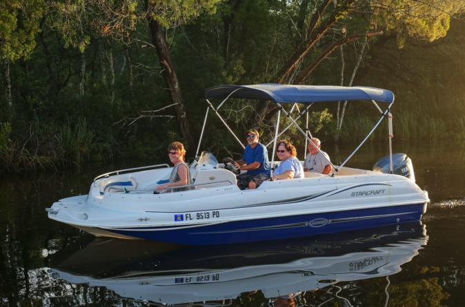 Deck Boat Rental on Homosassa River