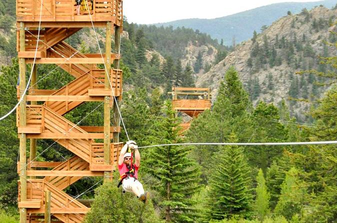 Idaho springs zip line tour in idaho springs 312333