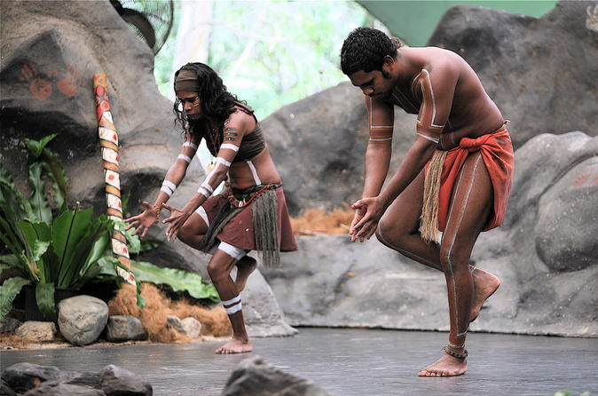 Tjapukai indigenous culture day trip from cairns including for Australian traditions