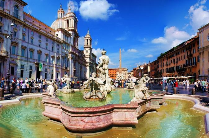 FULL DAY TOUR: Piazzas, Fountains, Vatican Museums and Lunch included