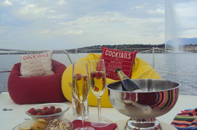 Champagne private tour on catamaran terrasse in geneva in geneva 327225